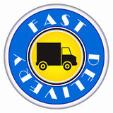 Round delivery icon Royalty Free Stock Images