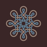 Round design element on brown background. Royalty Free Stock Images