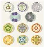 Round Design Elements Stock Photo