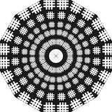 Round design ladders, black and white, round design like ladders, hash. vector illustration