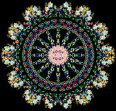 Round design with light flowers Royalty Free Stock Image