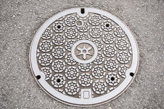Round design Manhole Cover Royalty Free Stock Image