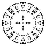 Round designs with a cross. Black and white Stock Photos