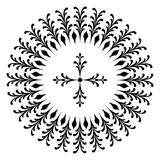 Round designs with a cross. Black and white Stock Photo