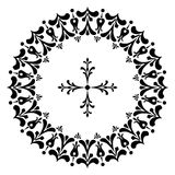Round designs with a cross. Black and white Stock Photography