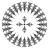 Round designs with a cross. Black and white Stock Images