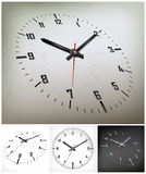 Round dial on gray Stock Images