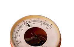 Round dial barometer instrument Stock Photo