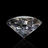Round diamond isolated. Gemstone Royalty Free Stock Image