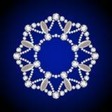 Round diamond pendant, jewelry circle frame Royalty Free Stock Photo