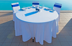 Round dining table Royalty Free Stock Photo
