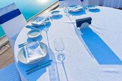 Round dining table Royalty Free Stock Photography