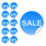 Round discount labels Stock Photography