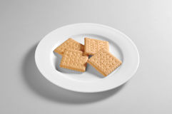 Round dish with biscuits royalty free stock photos