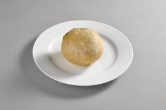 Round dish with Chinese fried ice cream Royalty Free Stock Photography