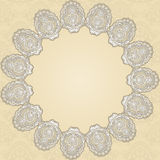 Round doily Stock Photo