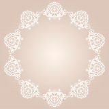 Round doily Royalty Free Stock Photo