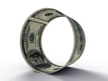 Round from dollar Royalty Free Stock Photo