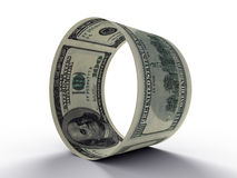Round from dollar Royalty Free Stock Photography