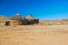Round domy w Drakensberg, Lesotho obraz royalty free