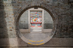 Round doorway at the Pak Tai Temple in Hong Kong Royalty Free Stock Photography