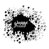 Round dots stamp frame with empty space for your text. Circle shape. Grunge texture Stock Photography