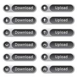 Round download and upload buttons Royalty Free Stock Image