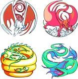 Round dragon designs Stock Photo