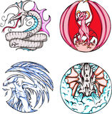 Round dragon designs Royalty Free Stock Photography