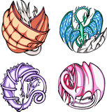 Round dragon designs Royalty Free Stock Photo