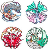 Round dragon designs Stock Photos