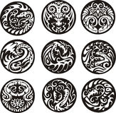 Round dragon designs Stock Photo