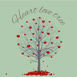 Round drzewny serce Obraz Royalty Free