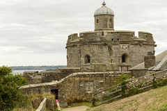 Round dungeon of St. Mawes castle, Cornwall royalty free stock photography