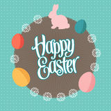 Round Easter background Royalty Free Stock Photo