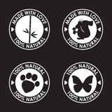 Round eco friendly stamp. Nature, animal products, wildlife them Stock Images