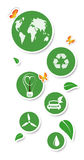 Round eco stickers Royalty Free Stock Photography