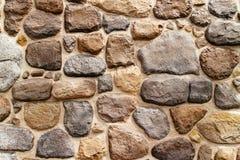 Round edge stone wall texture Royalty Free Stock Photo