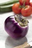 Round eggplant Royalty Free Stock Photo