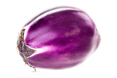 Round eggplant isolated Royalty Free Stock Images