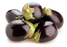 Eggplant. Round eggplant path isolated on white royalty free stock image