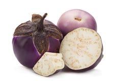 Round eggplant Stock Photography