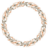 Round elegant frame in art nouveau style Royalty Free Stock Images