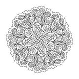 Round element for coloring book. Stock Photos