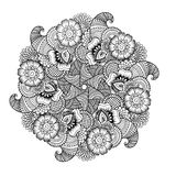 Round element for coloring book. Royalty Free Stock Image