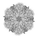 Round element for coloring book. Royalty Free Stock Images