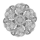 Round element for coloring book. Stock Image