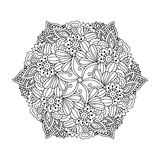 Round element for coloring book. Royalty Free Stock Photos