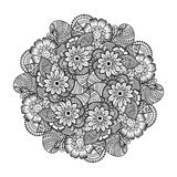 Round element for coloring book. Stock Photography