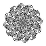 Round element for coloring book. Stock Images